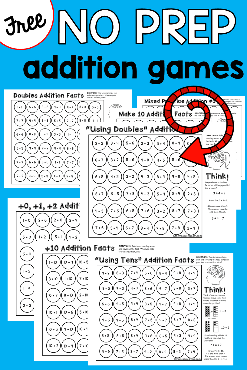 9 Free Addition Games - The Measured Mom - Free Printable Games