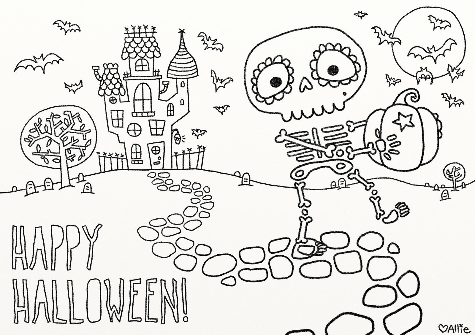 9 Fun Free Printable Halloween Coloring Pages - Printable Halloween Cards To Color For Free