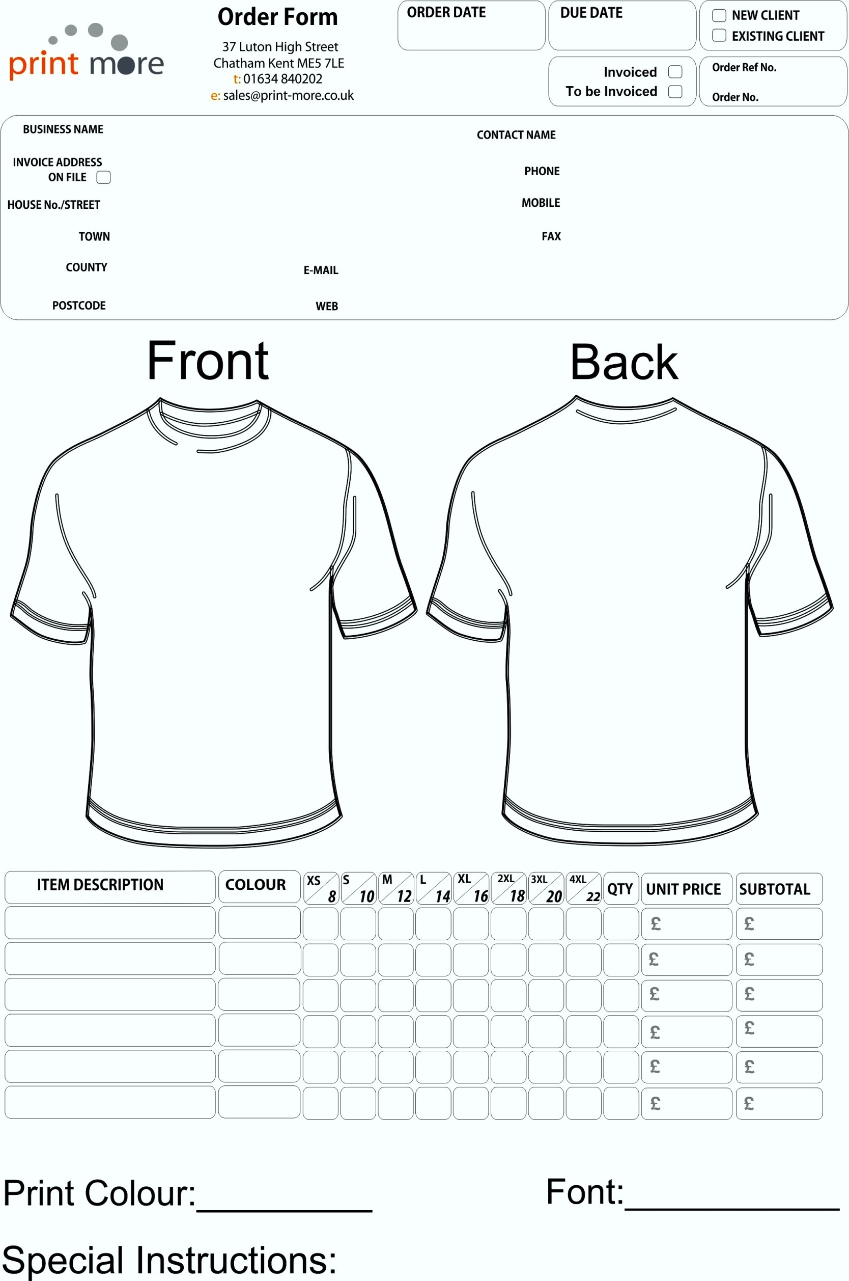 9 Printable Order Form Template | Pay Stub Free Templates Image - Free Printable Order Forms