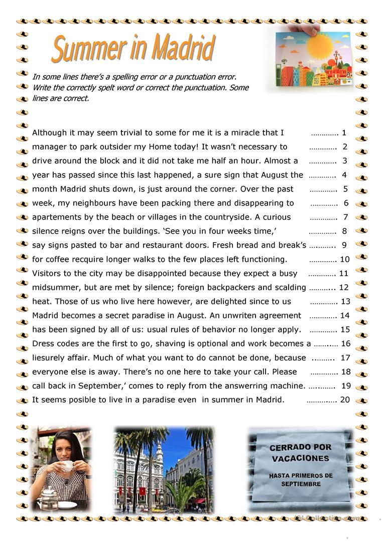 99 Free Esl Punctuation Worksheets - Free Printable Worksheets For Punctuation And Capitalization