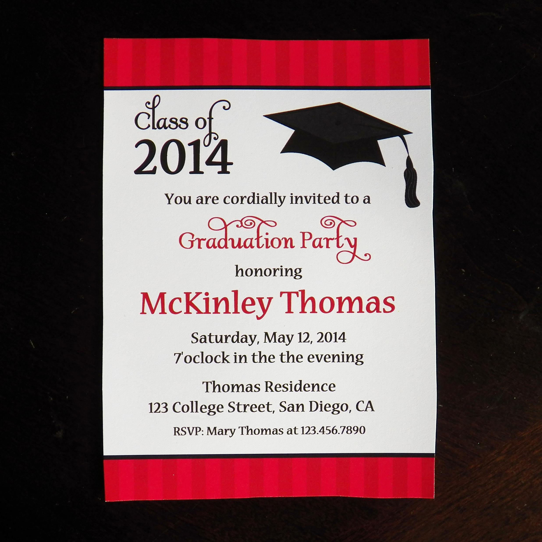 99+ Graduation Party Invitation Sayings Funny High School Graduation - Free Printable Graduation Party Invitations 2014