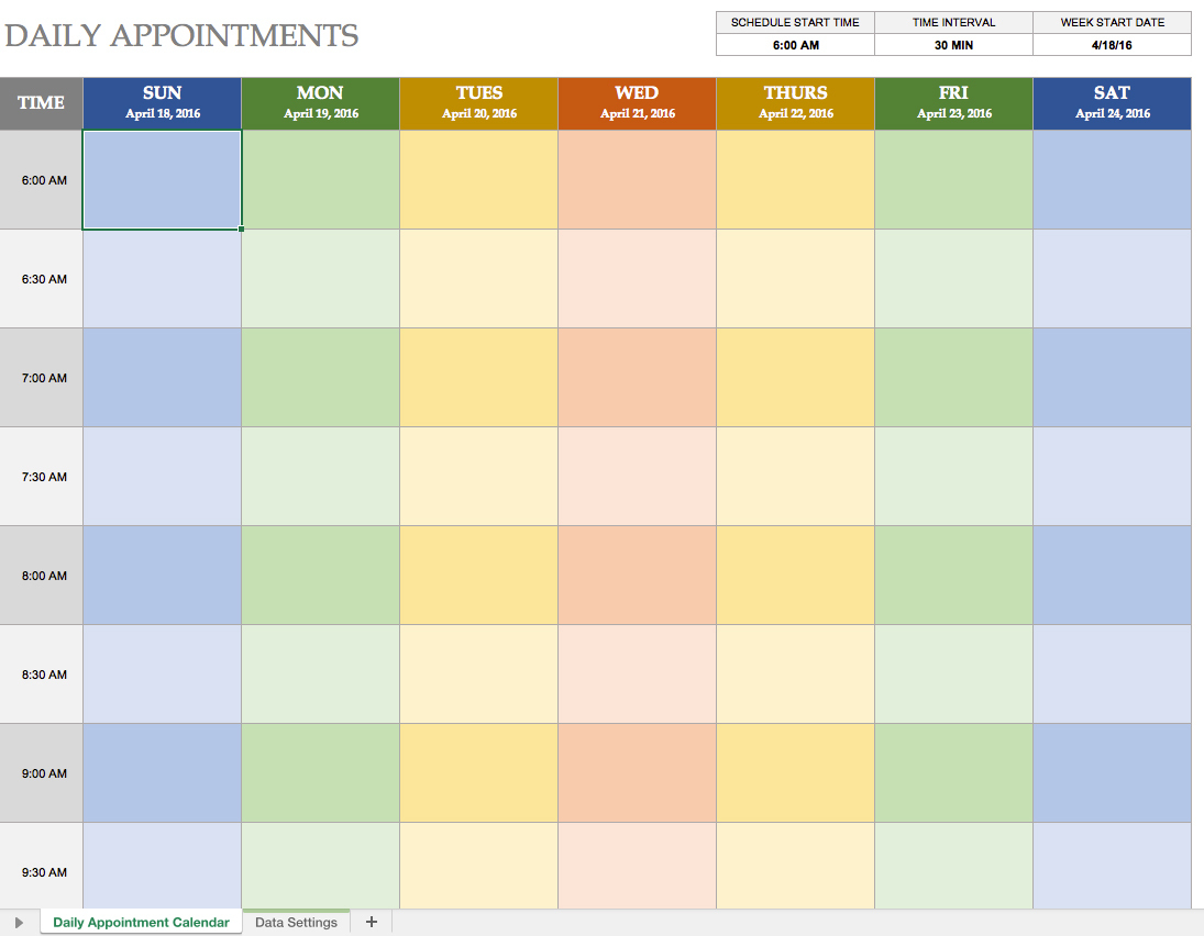 99+ Tag Appointment Sheet Template Excel Appointment Reminder - Free Printable Weekly Appointment Sheets