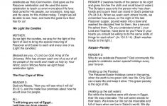 Free Printable Messianic Haggadah