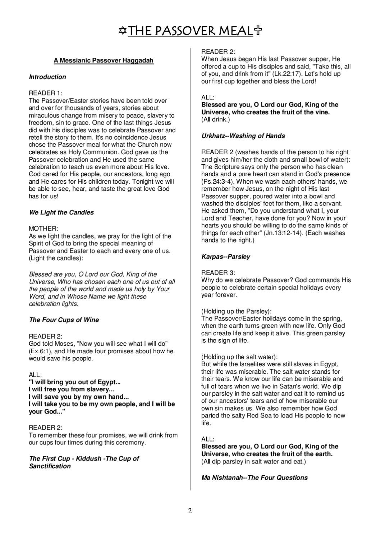 A Christian Passover Haggadah | Bible Study | Pinterest | Bible - Free Printable Messianic Haggadah