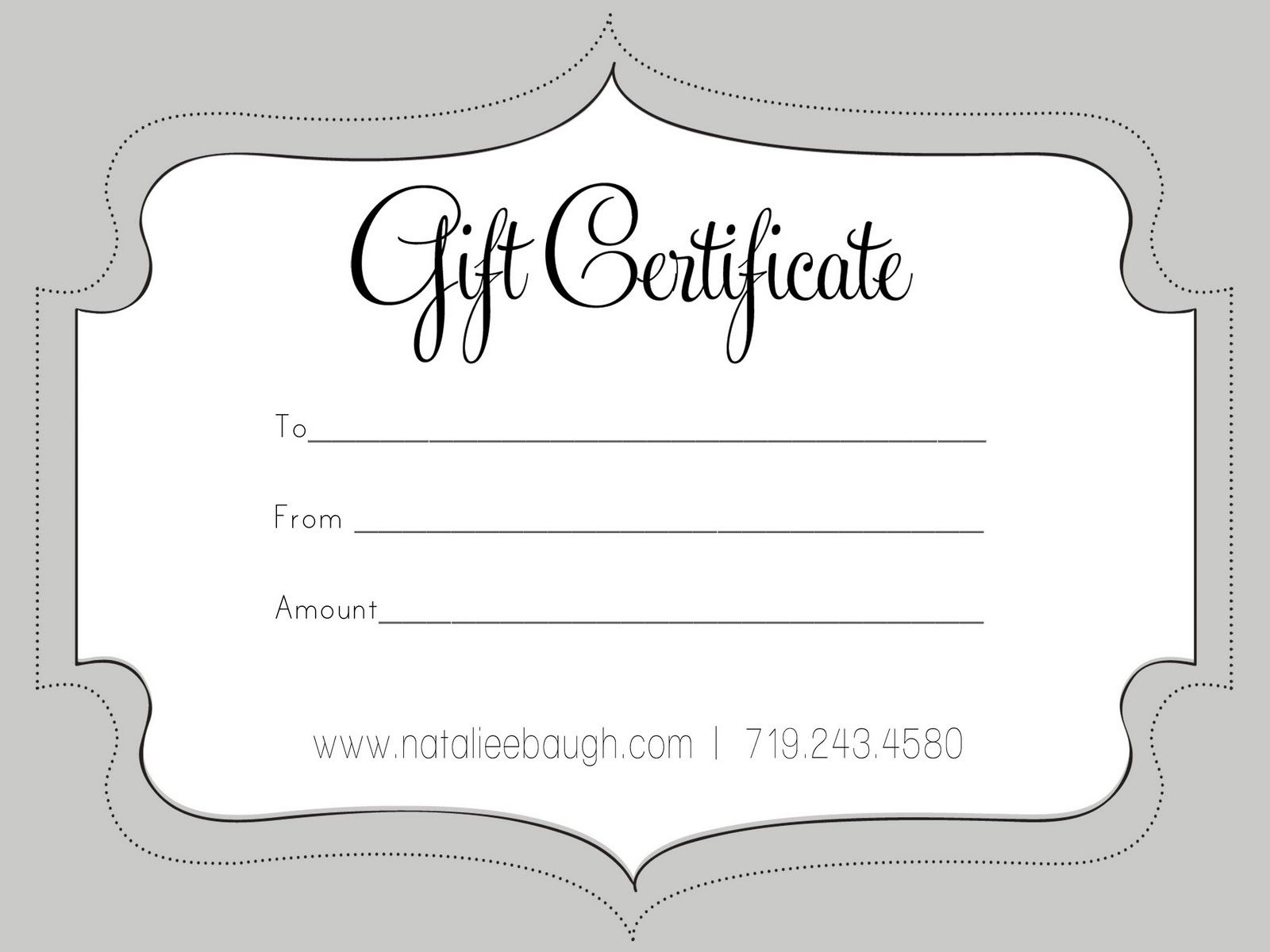 A Cute Looking Gift Certificate | S P A | Pinterest | Free Gift - Free Printable Gift Certificates For Hair Salon