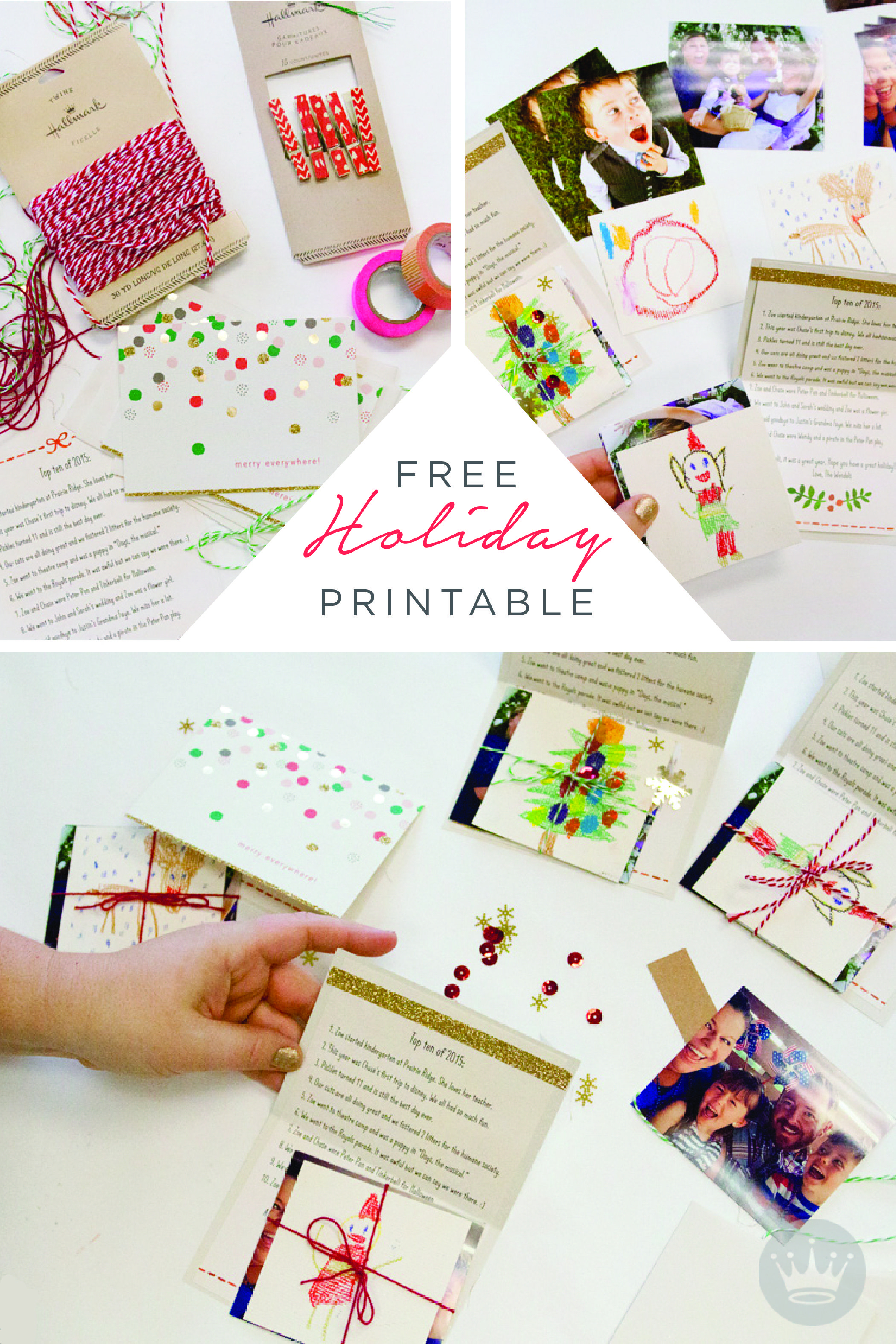 A Free Holiday Letter Printable To Dress Up Your Card-Sending | Home - Make A Holiday Card For Free Printable