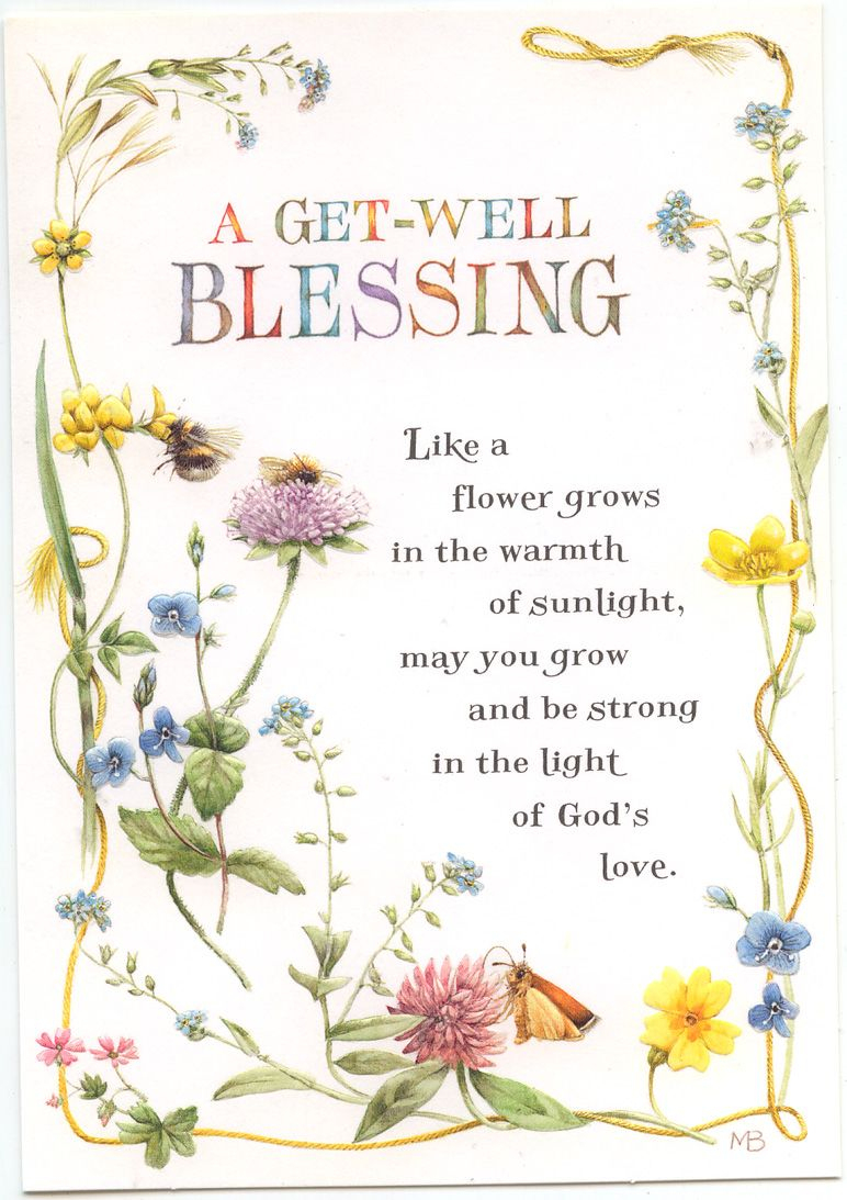 A Get Well Blessing Greeting Card | Feeling Stuck | Pinterest | Get - Free Printable Christian Birthday Greeting Cards
