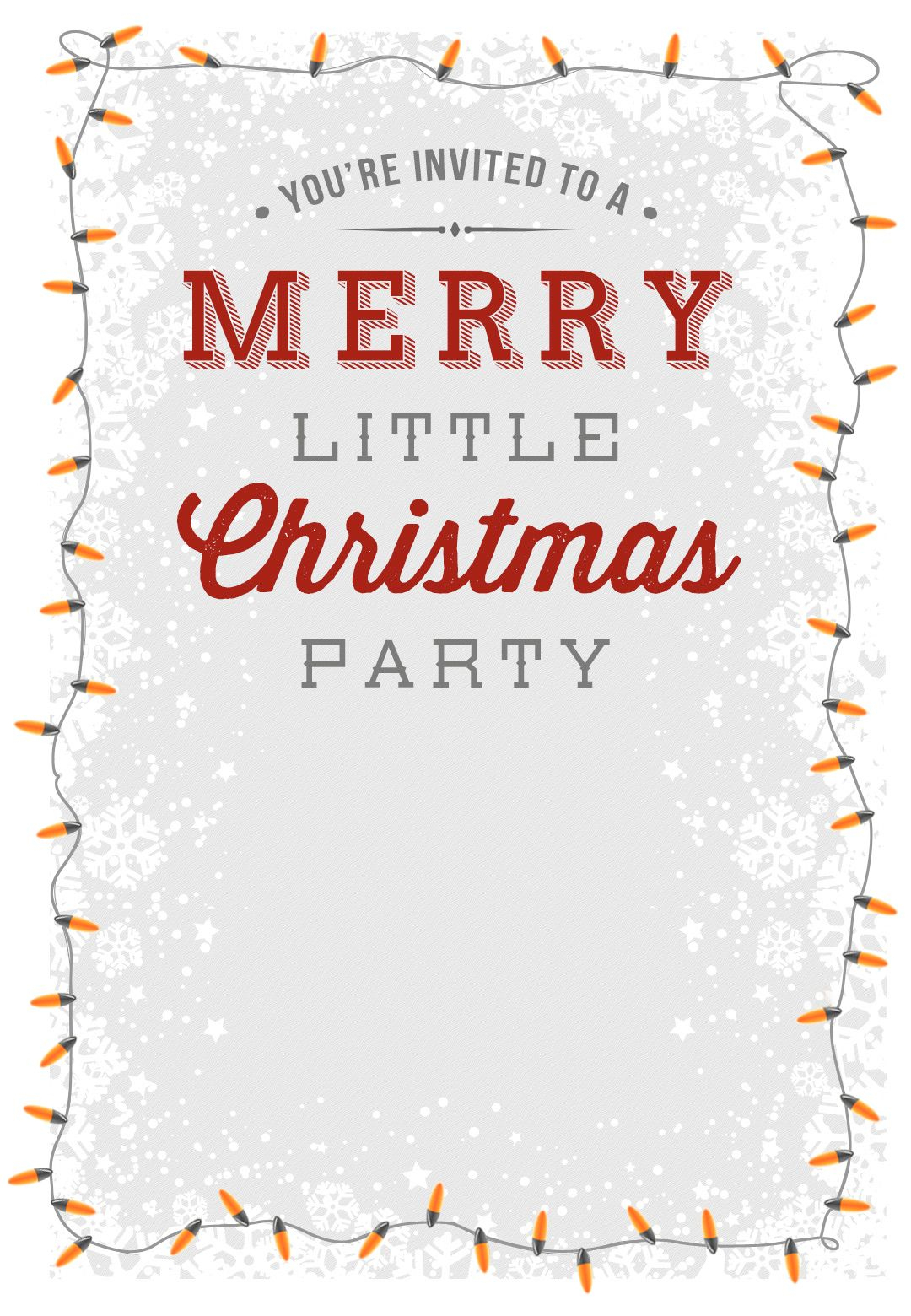 A Merry Little Party - Free Printable Christmas Invitation Template - Free Printable Christmas Party Invitations