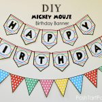 A Mickey And Minnie Mouse Party – Free Printable Happy Birthday   Free Printable Happy Birthday Banner