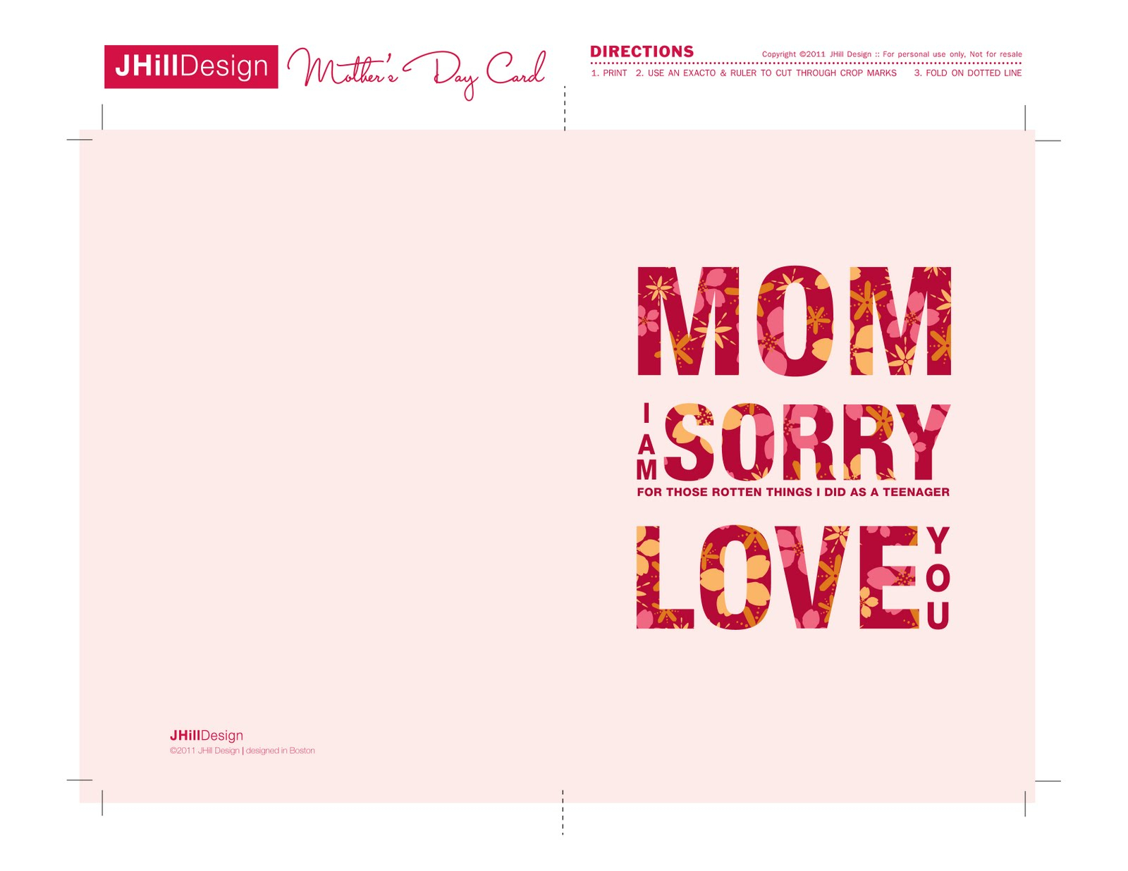 A New Mrs.: Free Printable Mother's Day Cards! - Free Printable Mothers Day Cards To My Wife