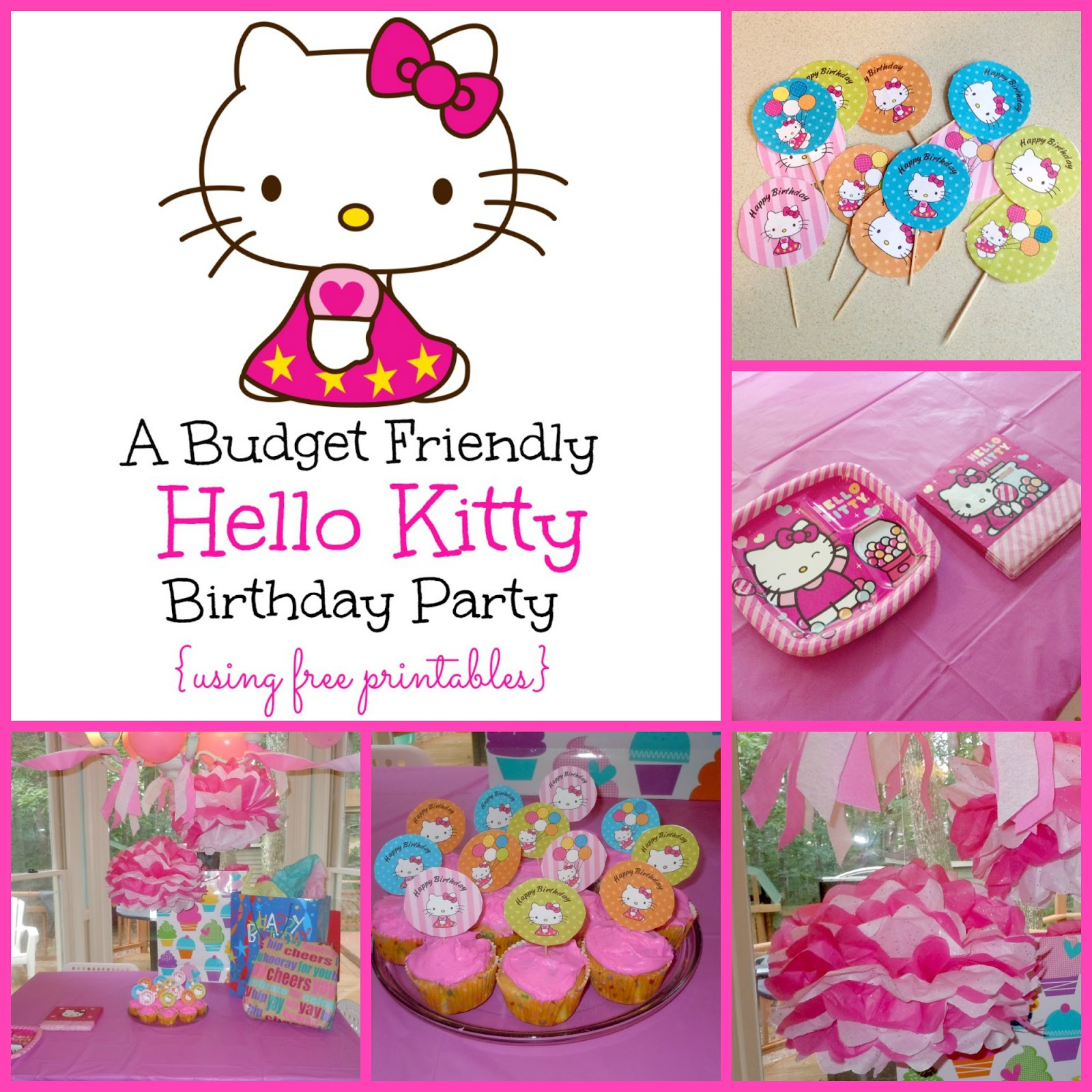 A Super Sweet Hello Kitty Birthday Party Using Free Printables - Free Printable Hello Kitty Pictures