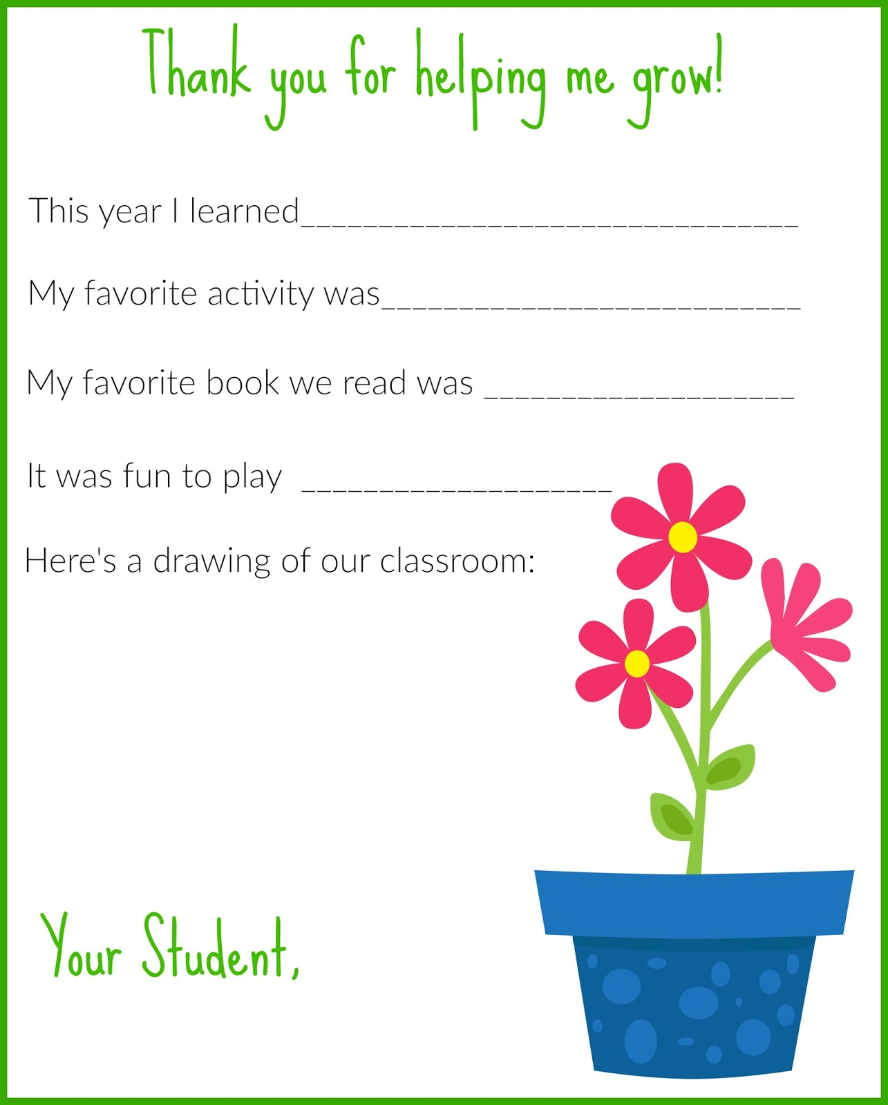 A Thank You Letter For Teachers {Free Printable} - The Chirping Moms - Free Printable Thank You Cards For Teachers