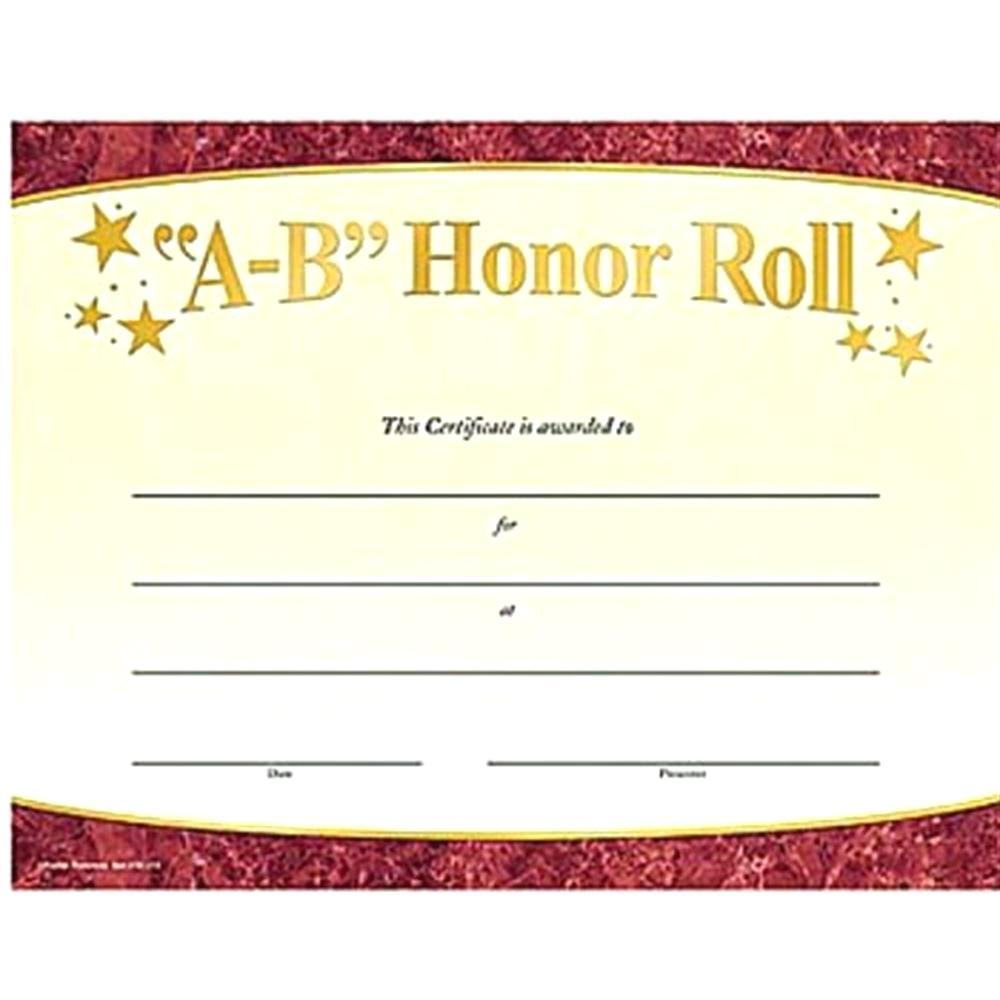 Ab Honor Roll Certificate Printable. Amazing B Honor Roll - Free Printable Honor Roll Certificates Kids