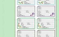 Free Printable Address Book