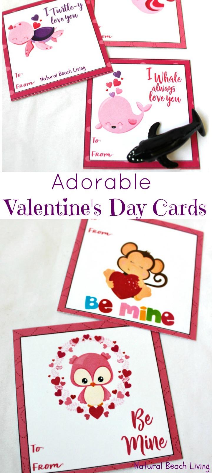Adorable Preschool Valentine's Day Cards (Free Printables) - Natural - Free Printable Valentine Cards For Preschoolers