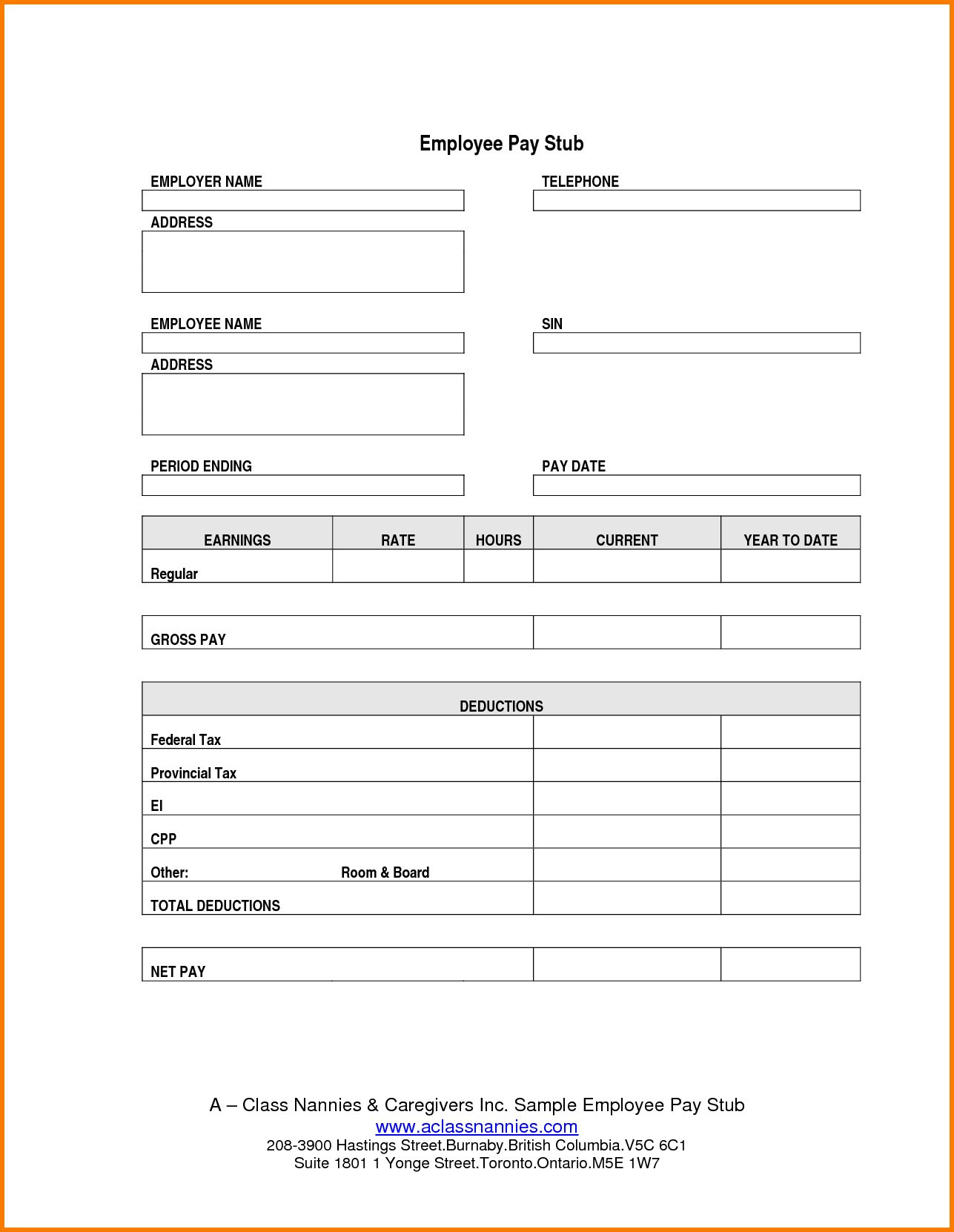 Adp Paystub Template Payroll Sheet Editable Free Printable Check - Free Printable Pay Stubs Online