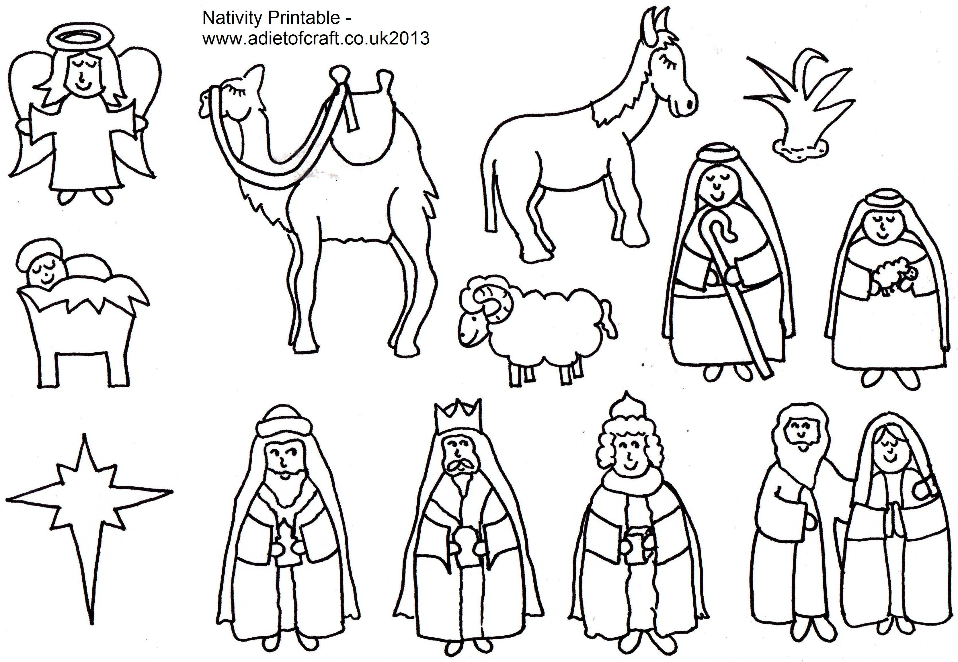 Adult Coloring Pages Of The Nativity Free In Nativity Coloring Pages - Free Printable Nativity Story Coloring Pages