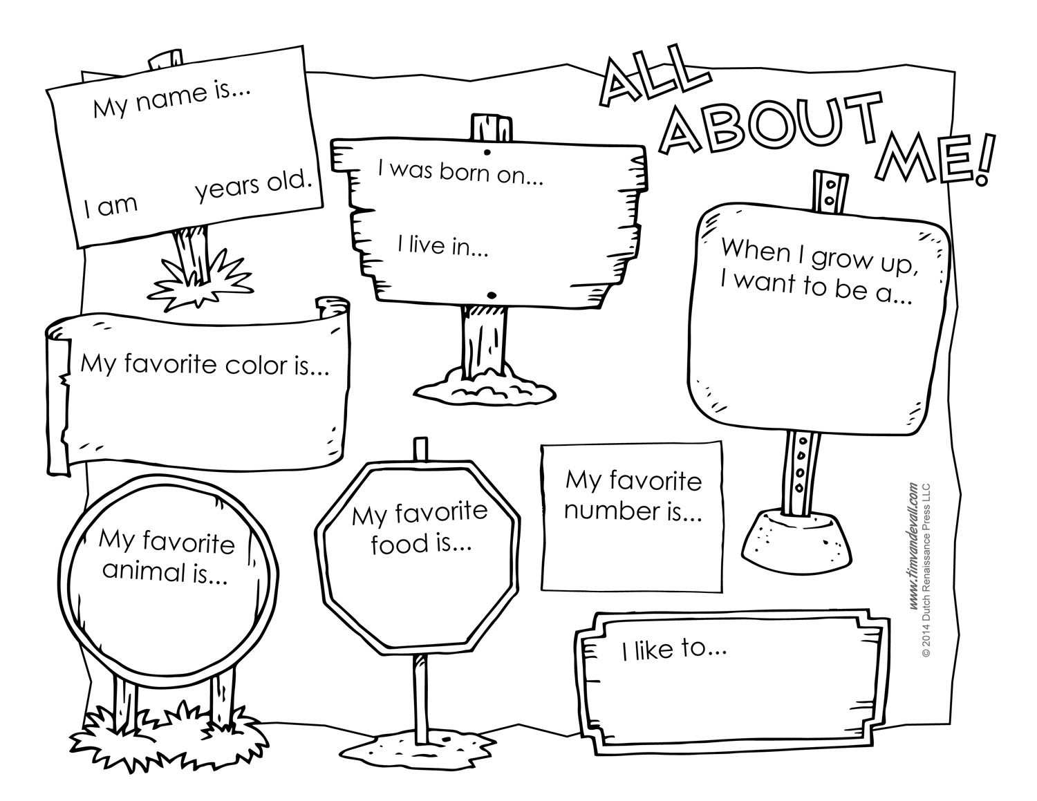 All About Me Coloring Pages To And Print For Free | Beginning Of - Free Printable All About Me Poster
