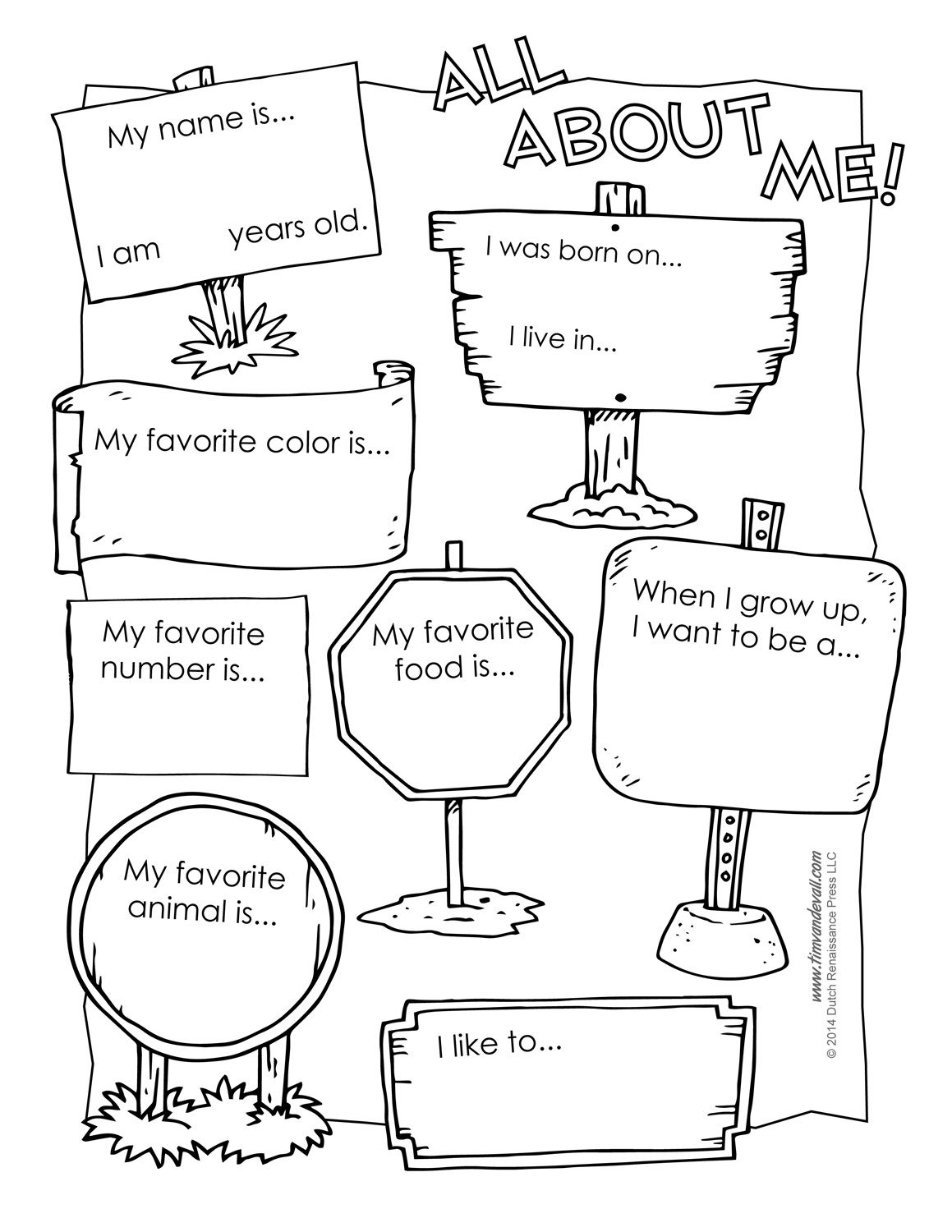 All About Me Preschool Template | 6 Best Images Of All About Me - All About Me Free Printable