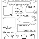 All About Me Worksheet   Free Esl Printable Worksheets Madeteachers   Free Printable All About Me Worksheet