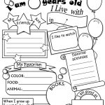 All About Me Worksheet Freebie   Cute! | Language Arts | Pinterest   Free Printable All About Me Worksheet