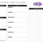 All New: Free Printable Meal Planner You Can Edit   Queen Of Free   Free Printable Menu Planner