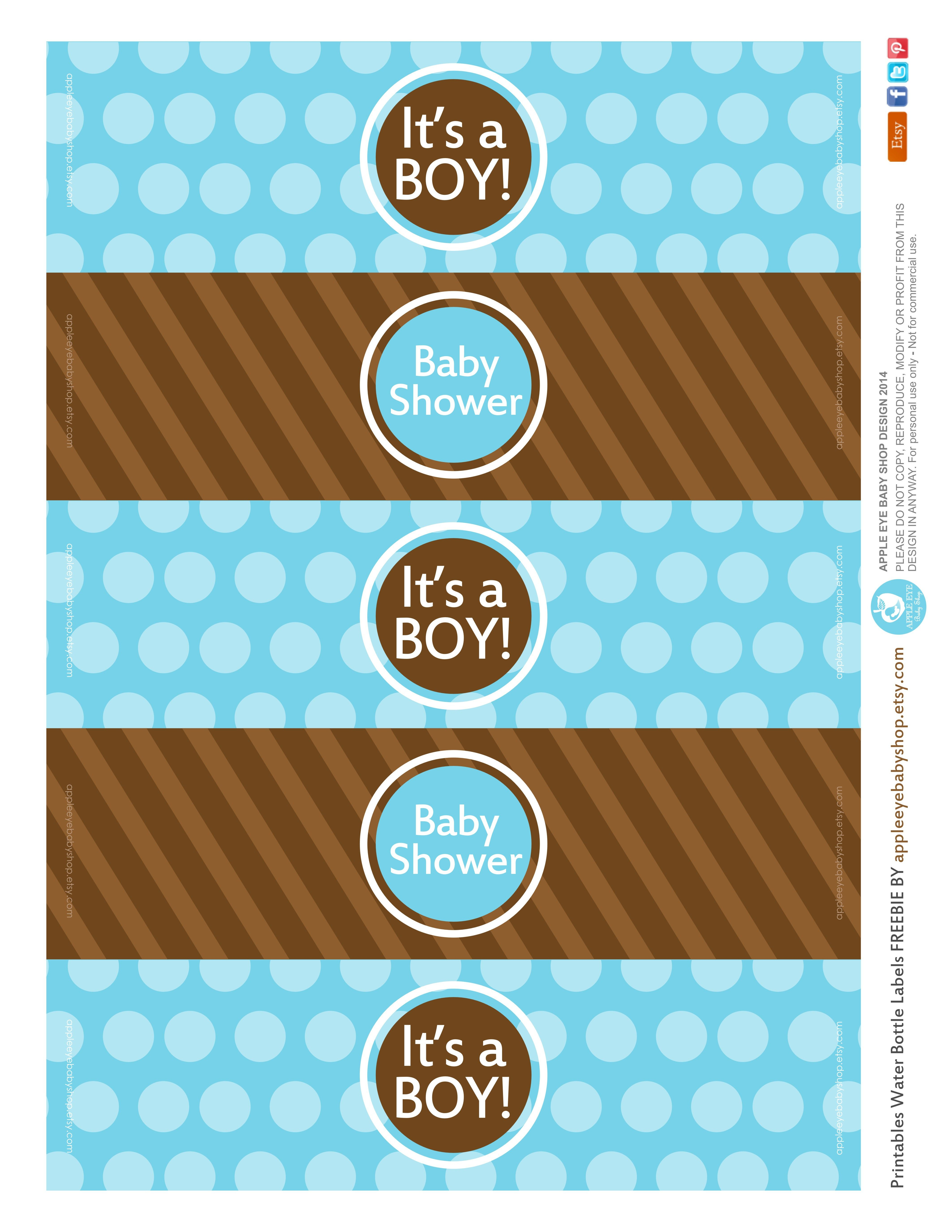 All Sizes   Free Printable   Water Bottle Labels Baby Boyapple - Free Printable Baby Shower Labels For Bottled Water