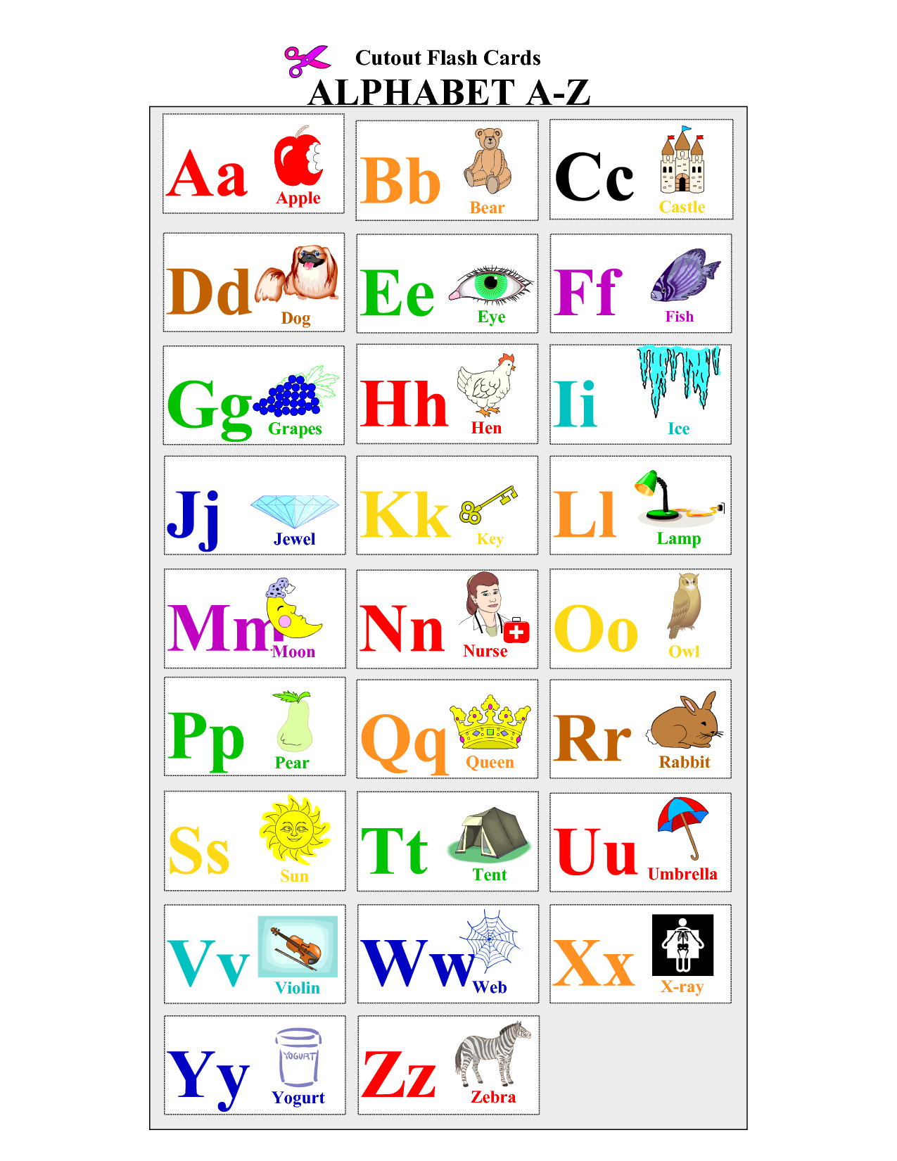 Alphabet-Flash-Cards-To-Print - Coloring Pages For Adults,coloring - Spanish Alphabet Flashcards Free Printable