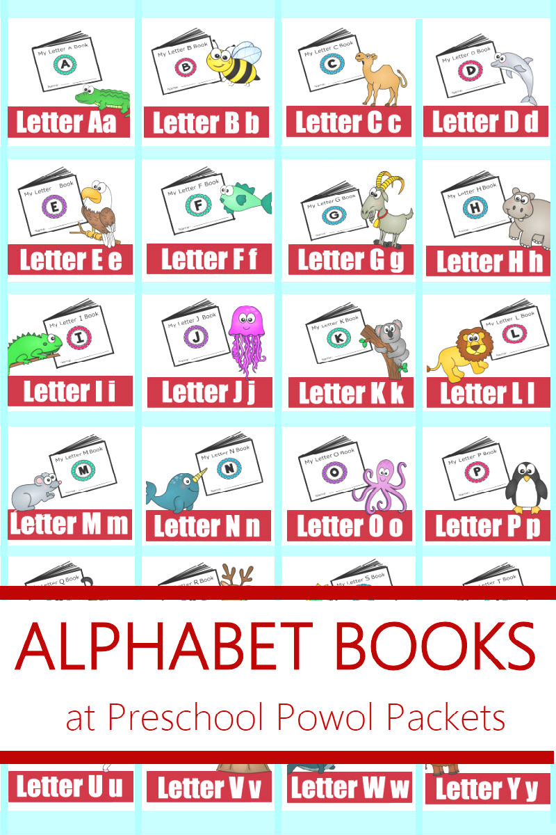 Alphabet! Free Printable Mini Books   Preschool Powol Packets - Free Printable Mini Books