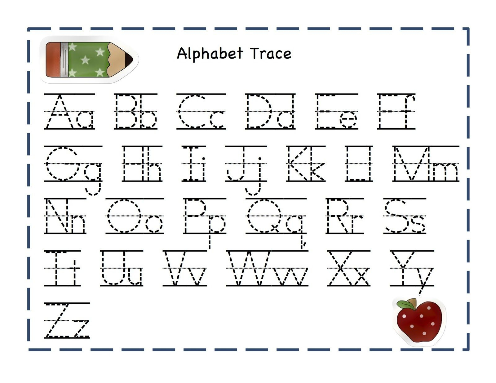 Alphabet Tracer Pages For Kids | Alphabet And Numbers Learning - Free Printable Preschool Name Tracer Pages
