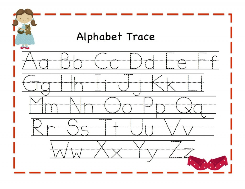 Alphabet Tracing   Kiddo Shelter - Free Printable Alphabet Letters Upper And Lower Case
