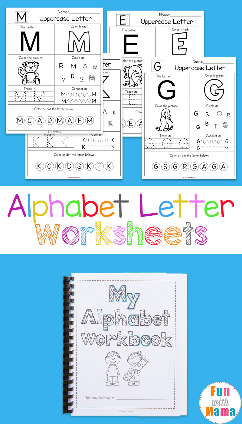 Alphabet Worksheets - Fun With Mama - Free Printable Alphabet Letters To Color