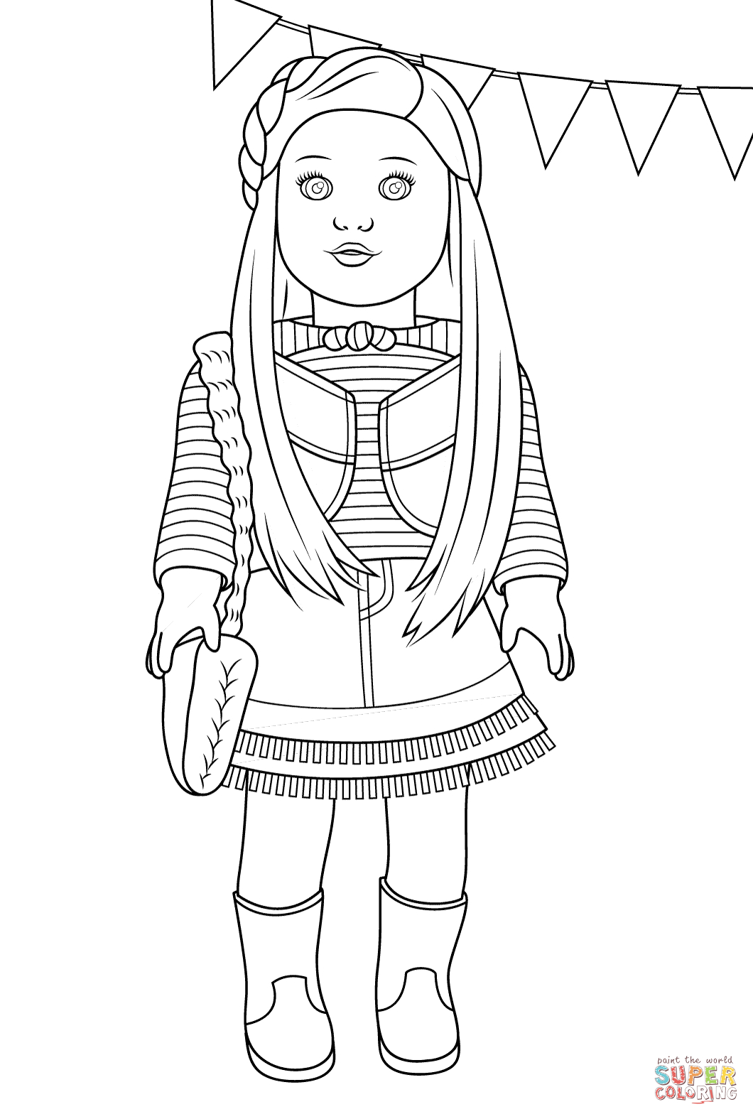 American Girl Mckenna Coloring Page | Free Printable Coloring Pages - Free Printable Coloring Pages For Girls