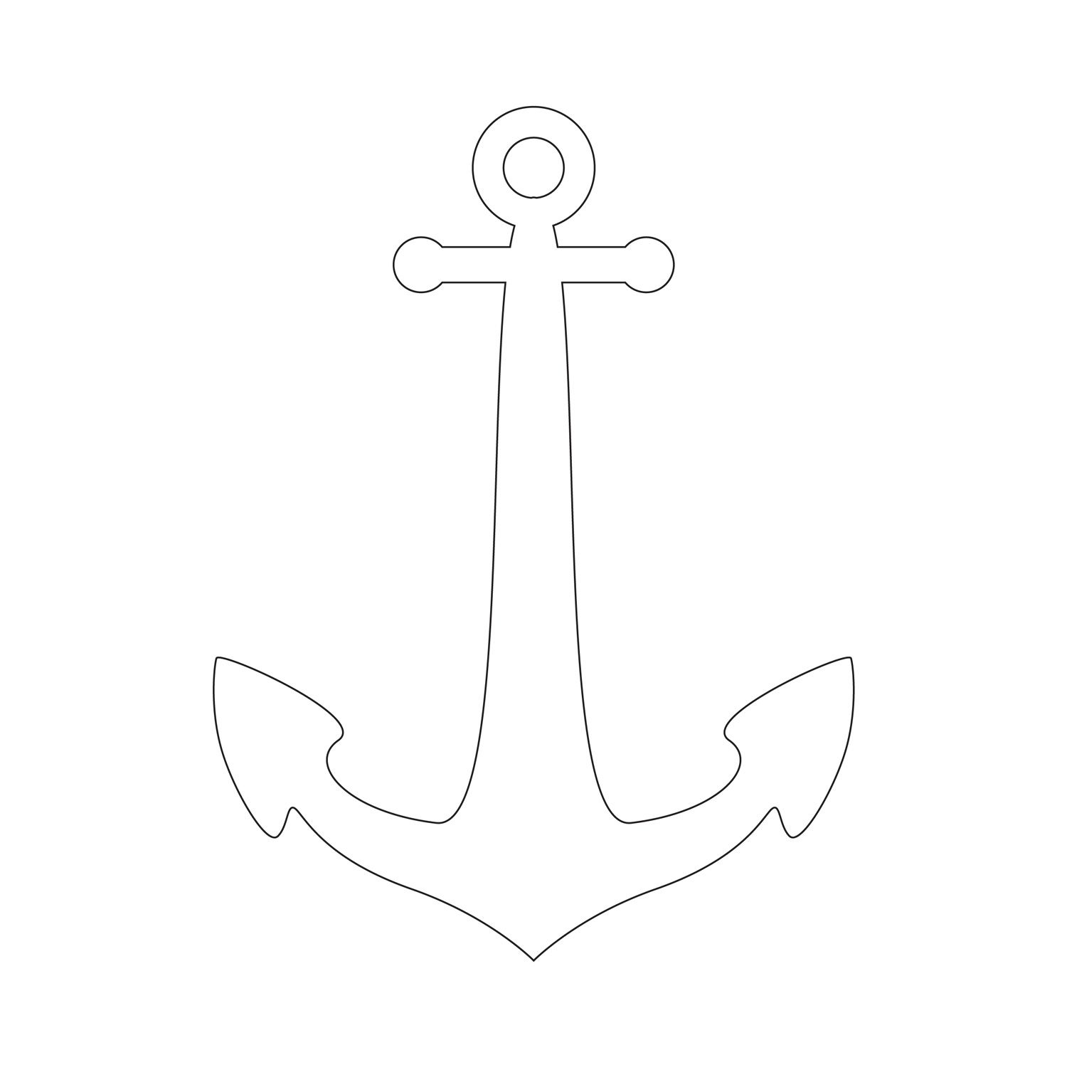 Anchor Stencil | Free Printable Stencil Templates | Wood Burning - Free Printable Anchor Template