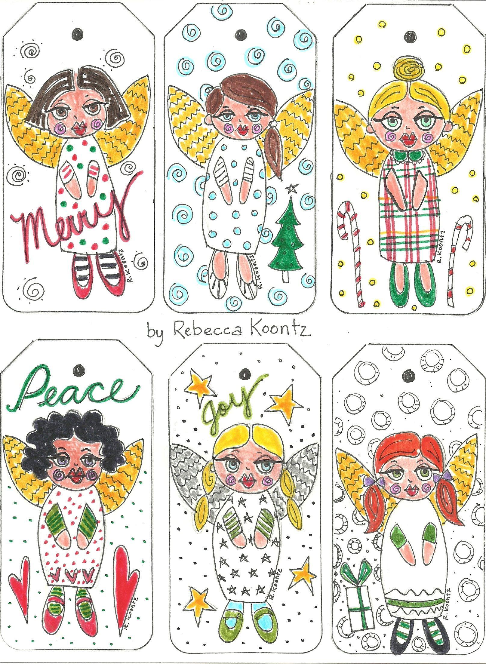 Angel Gift Tags (Free Printable) | Christmas | Pinterest | Free - Free Printable Angel Gift Tags