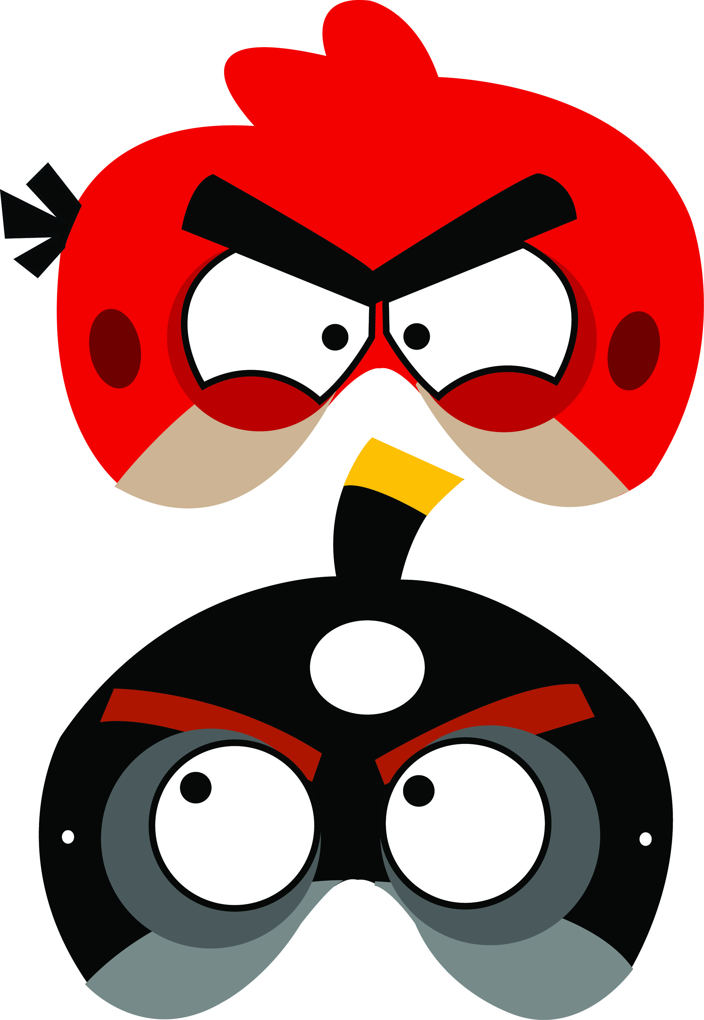 Angry Birds Free Printable Masks | Luca's B-Day Party | Pinterest - Free Printable Masks