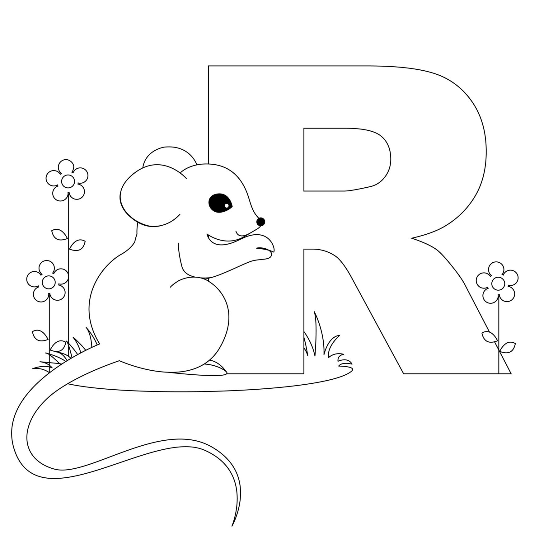Animal Alphabet Letter R Is For Rat! | Alphabet Crafts..the Letter R - Free Printable Animal Alphabet Letters