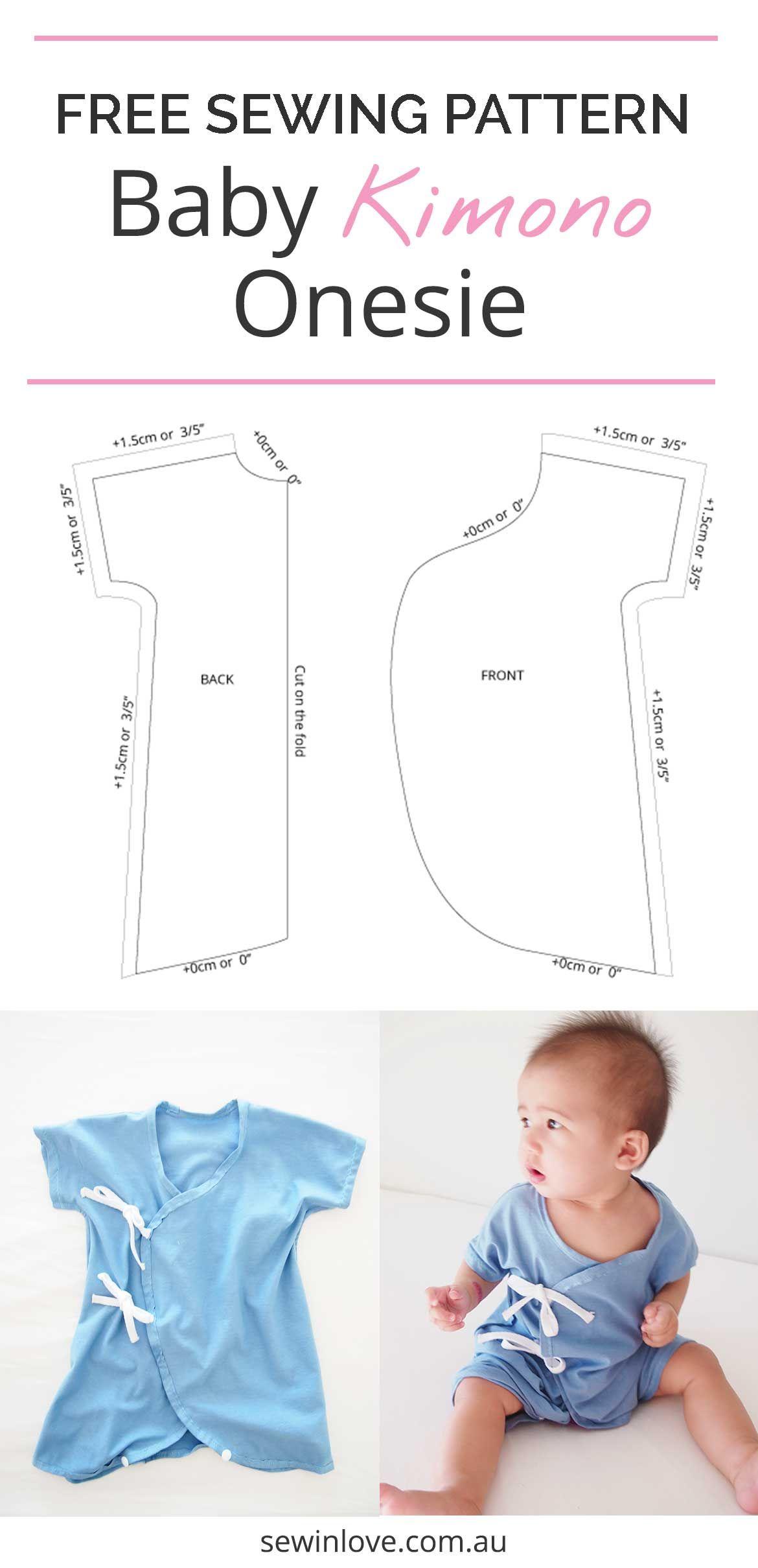 Another Baby Kimono Sewing Pattern - Onesie Version | Craft Ideas - Free Printable Onesie Pattern