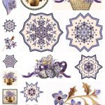 Artbyjean   Purple Wood Roses: Scrapbook Embellishments   Free Printable Scrapbook Decorations