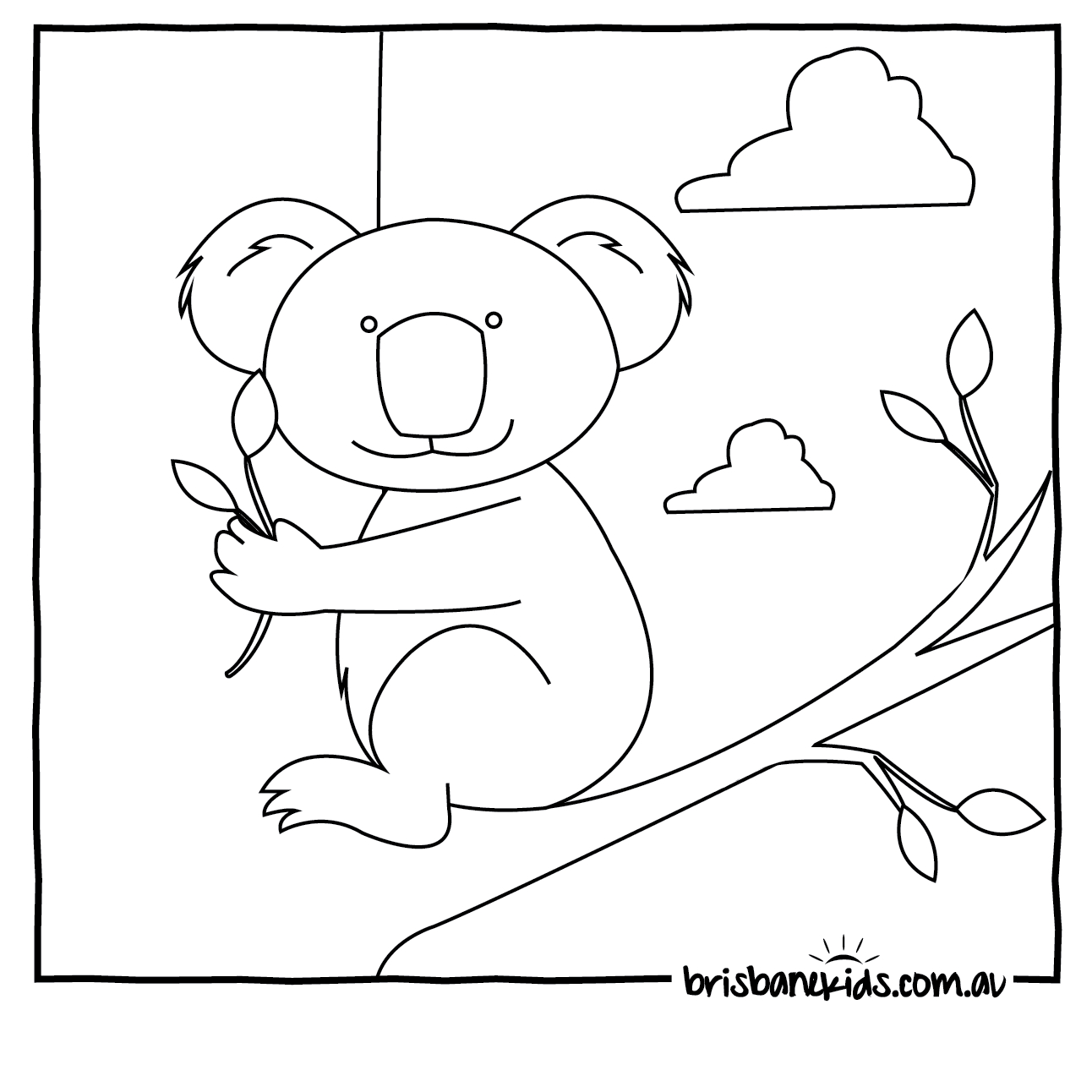 Australian Animals Colouring Pages | Brisbane Kids - Free Printable Australian Animals
