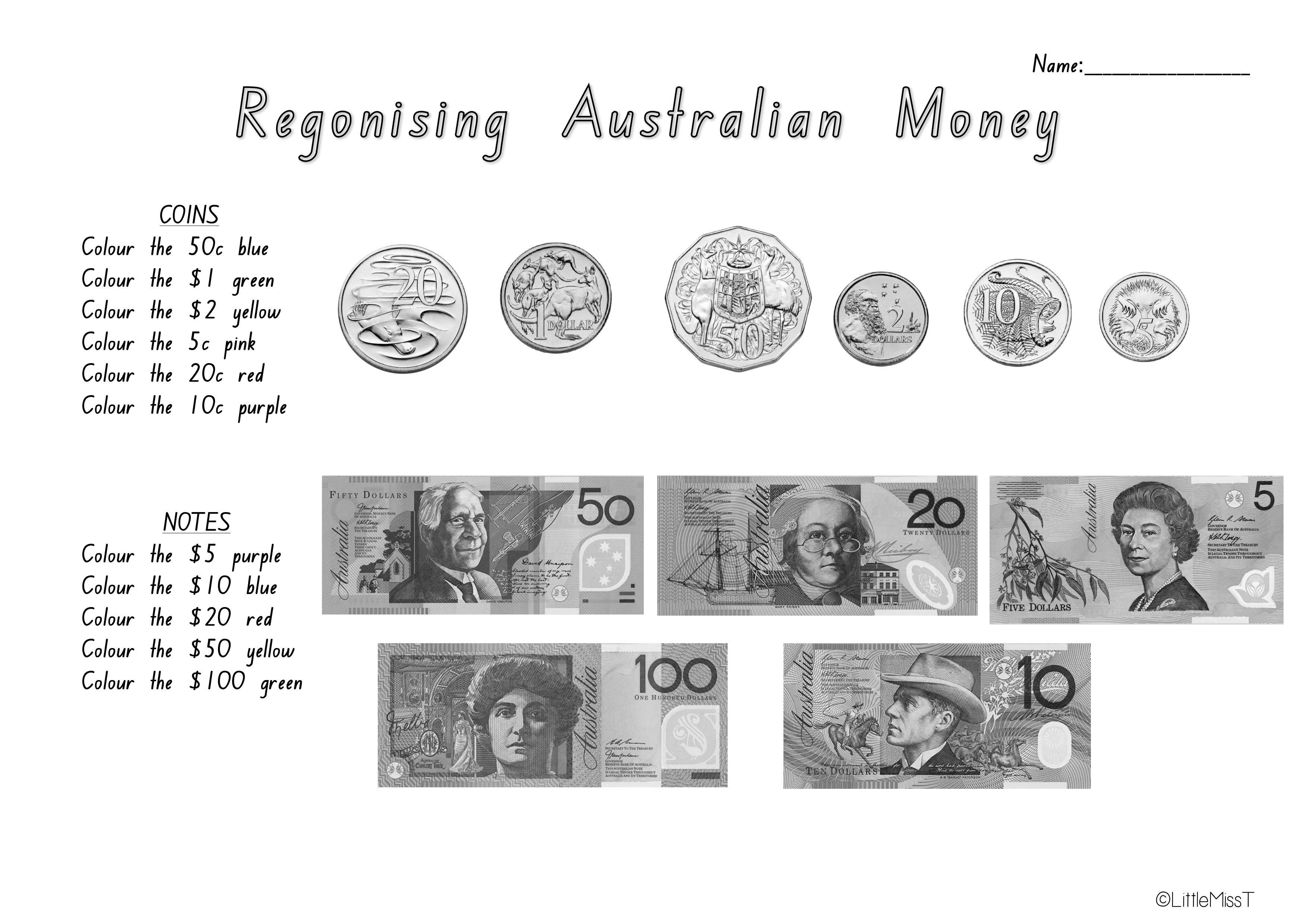 Australian Money Worksheets | Teach In A Box - Free Printable Money Worksheets Australia