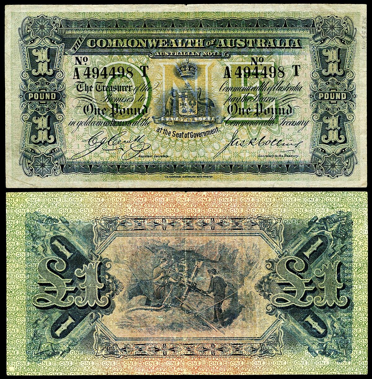 Australian Pound - Wikipedia - Free Printable Australian Notes
