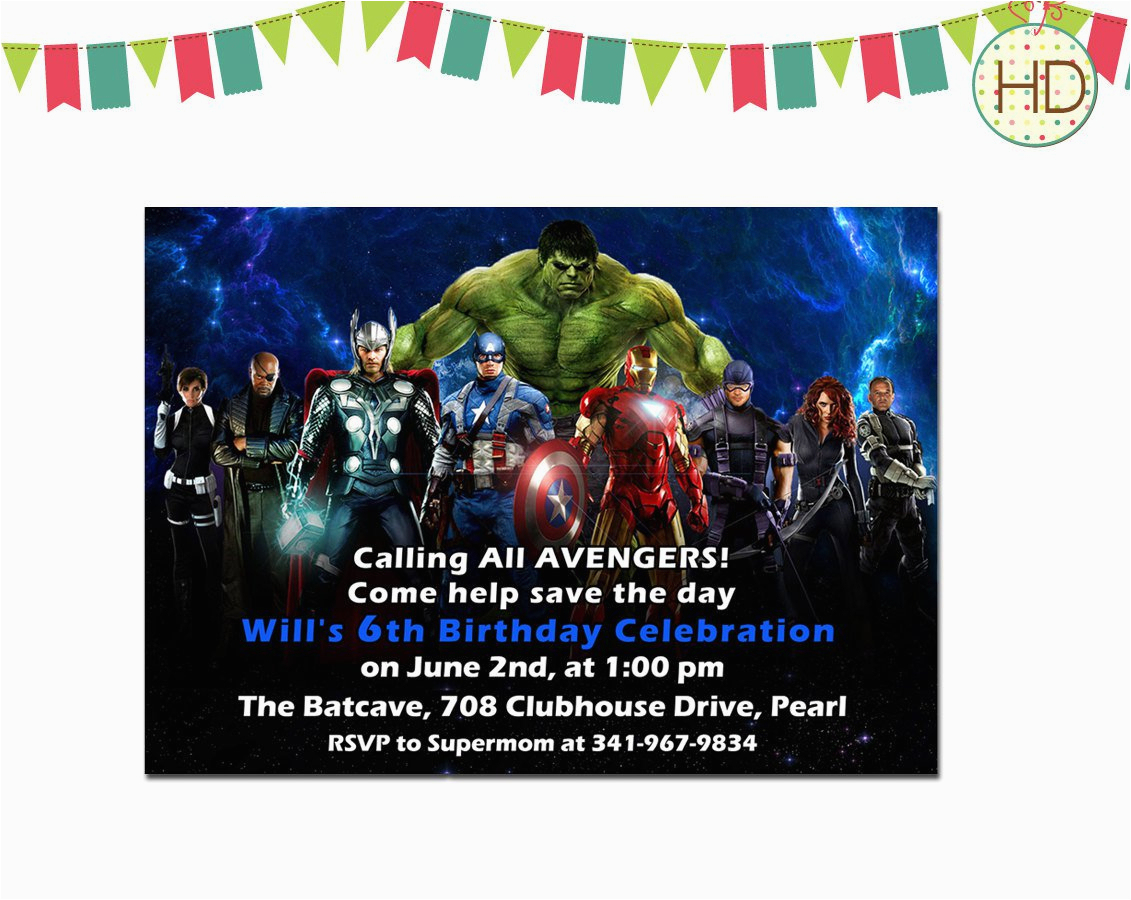 Avenger Birthday Invitations | Birthdaybuzz - Avengers Party Invitations Printable Free