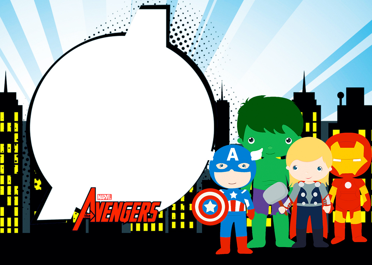Avengers Chibi Style: Free Printable Invitations. - Oh My Fiesta - Free Printable Avengers Birthday Party Invitations