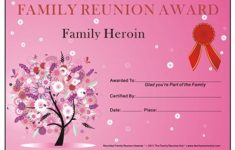 Award Certificates Archives – Family Reunion Hut – Reunion Basics – Free Printable Family Reunion Awards