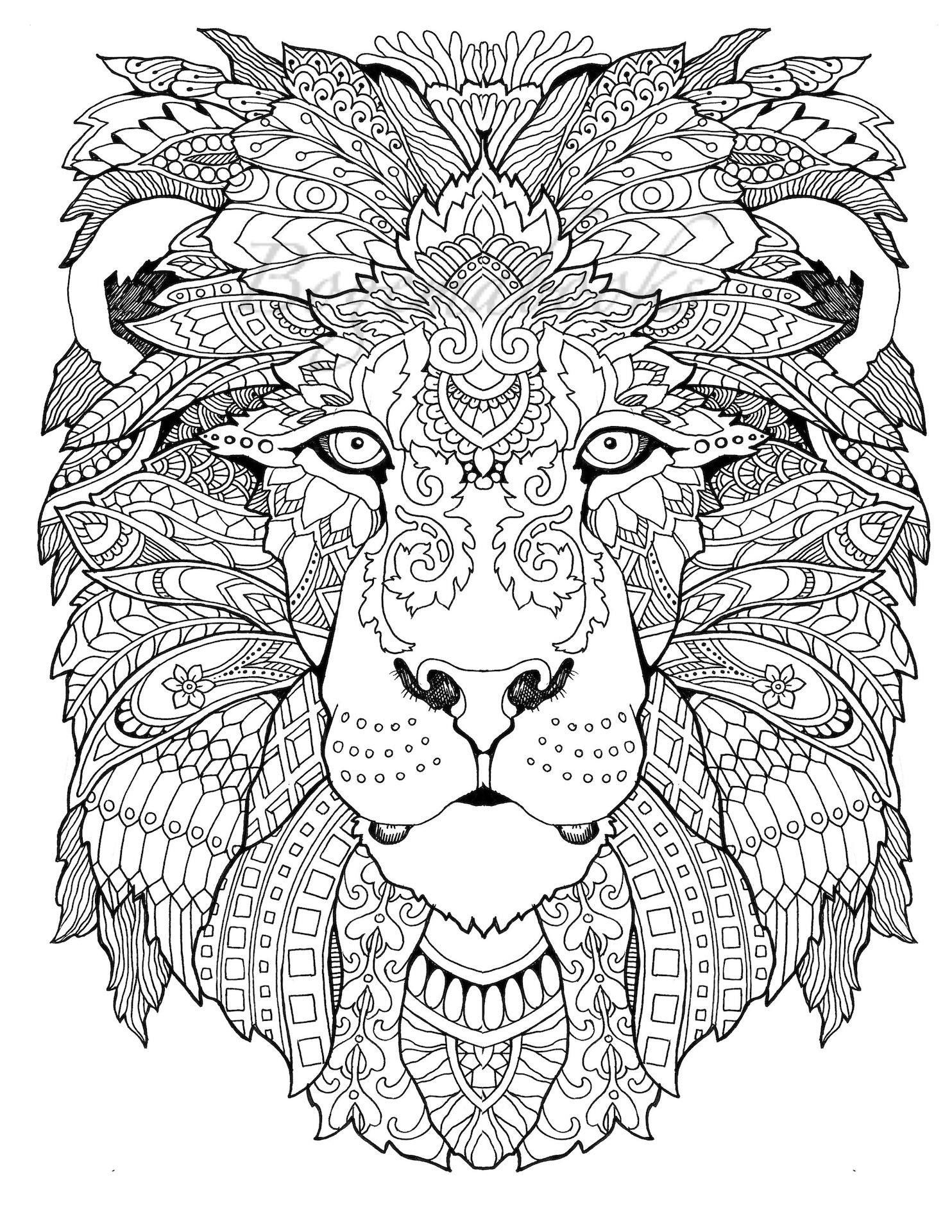 Awesome Animals Adult Coloring Book Coloring Pages Pdf   Awesome - Free Printable Coloring Book Pages For Adults