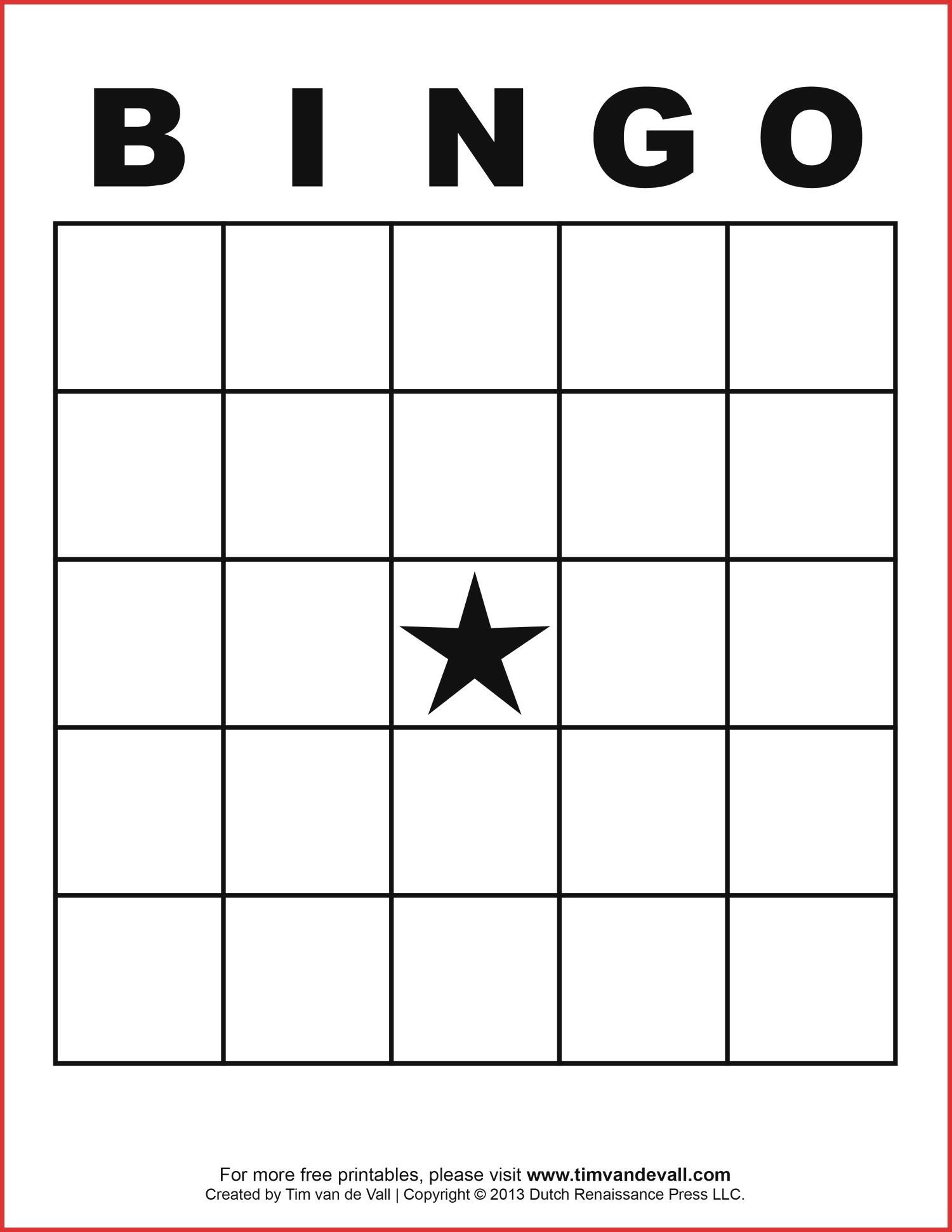 Awesome Blank Bingo Template | Dos Joinery - Printable Bingo Template Free