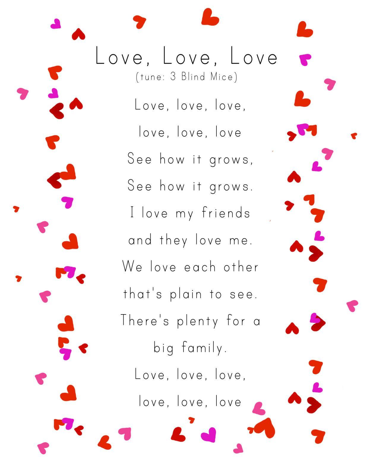 Awww For Valentine's Day Week :)   Valentine's Preschool   Valentine - Free Printable Romantic Poems