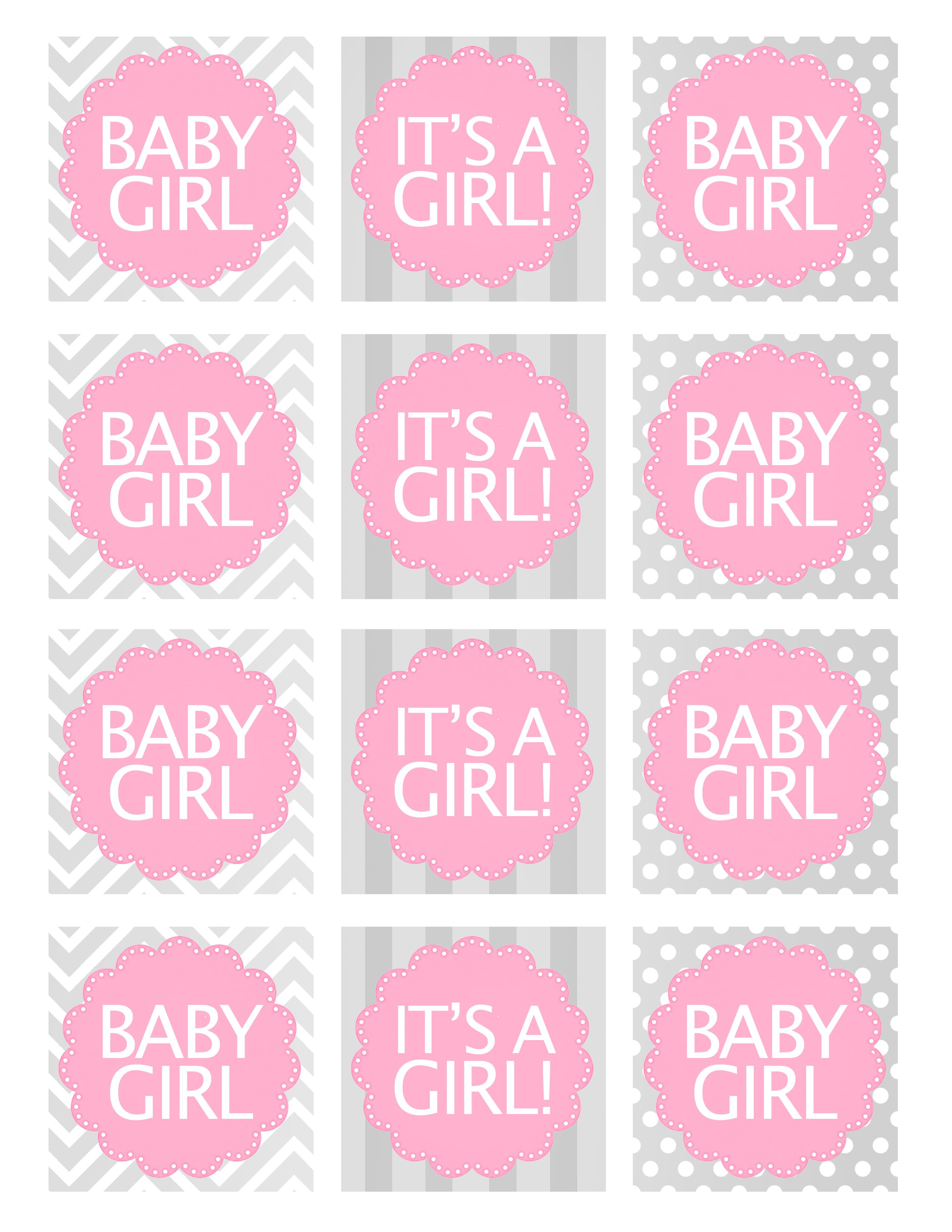 Baby Girl Shower Free Printables   Baby Shower Ideas   Pinterest - Free Printable Baby Shower Favor Tags