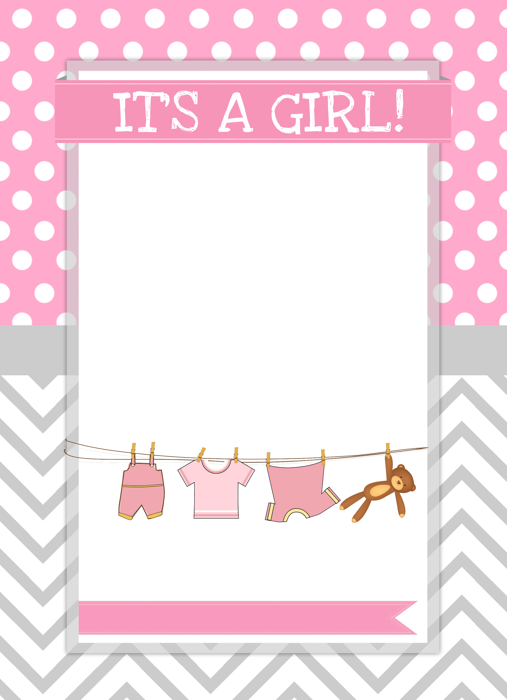Baby Girl Shower Free Printables - How To Nest For Less™ - Free Printable Baby Cards